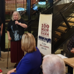 Cait Glasson, President & Communications Liaison Coordinator, speaking at 100 Men Who Give a Damn